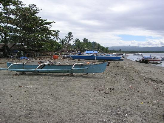 Hilongos Philippines  city photos gallery : Hilongos, Philippines: Fishing boats on nearby beach.
