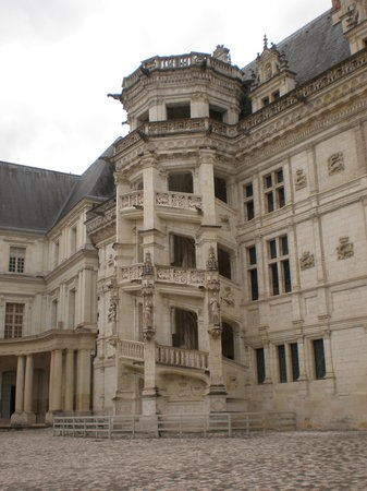 Blois, France : Courtyard Stairs
