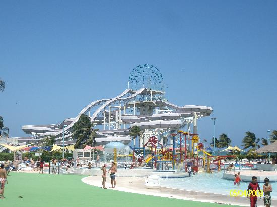 part of Wet N Wild waterpark  Picture of Moon Palace Cancun