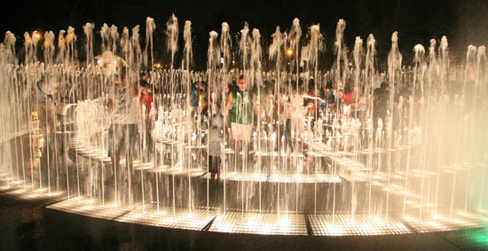 Lima, Peru: A water fountain for children of all ages