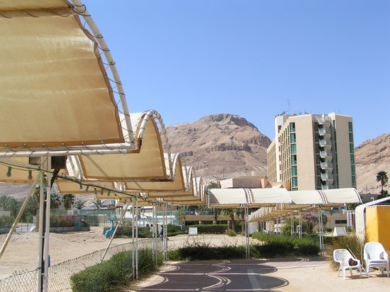Hod Hamidbar Resort and Spa Hotel : view of the hotel from the neighbouring hotel's beach