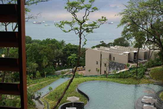 Capella Singapore: One of the 3 pools