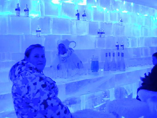 Levi Hotel Spa: The Artic Circle Ice Bar at Santa Park - don't go to the park!