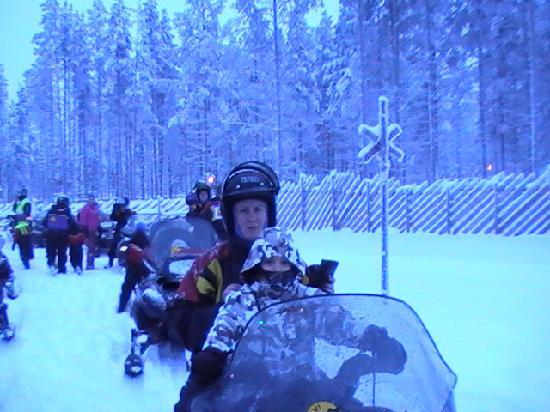 Levi Hotel Spa: Snow mobile day.....Brilliant