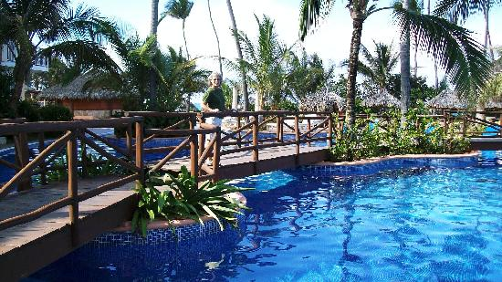 Walkway over the pool picture of excellence punta cana punta cana tripadvisor for Westhill swimming pool phone number