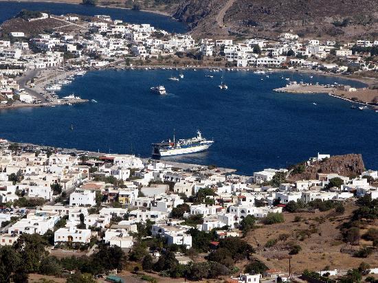 Skala Hotel: View towards Patmos harbour