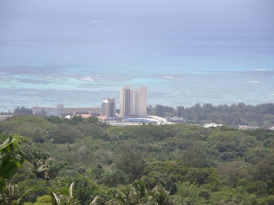 Grandvrio Resort Saipan: View from the top of the hill of Hafadai Beach Hotel