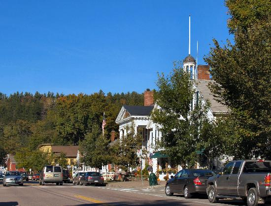 The main street in Stowe