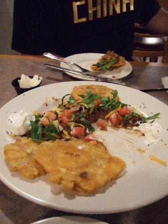 Habana Grill: tostones- half eaten-I could take the photo fast enough