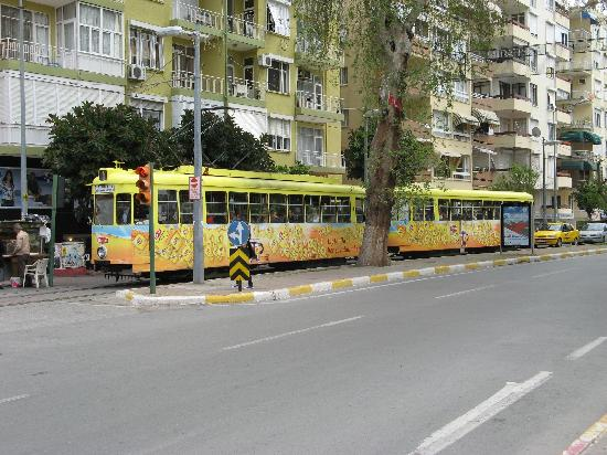 Karyatit Hotel: The tram in Antalya