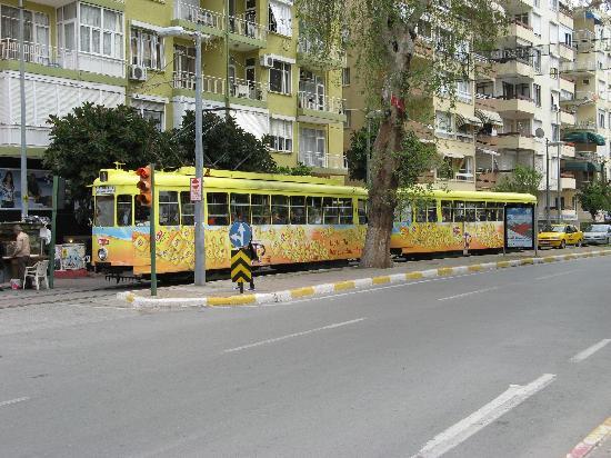 Karyatit Otel: The tram in Antalya