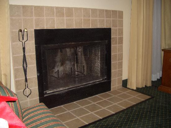 Residence Inn Montgomery: Fireplace!