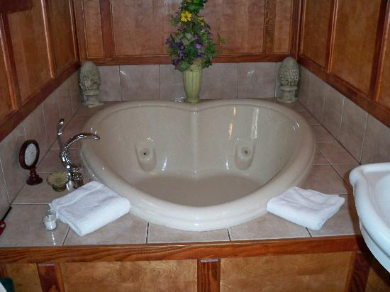 Gables: Our heart shaped whirlpool tub!