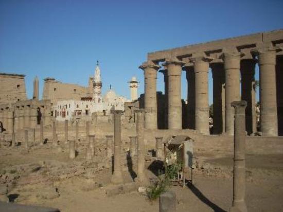 The Abu al-Haggag Mosque was built inside Luxor Temple