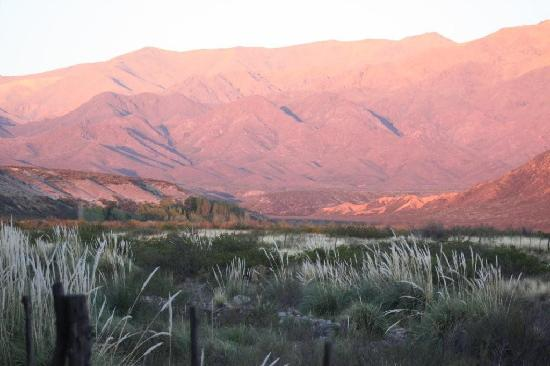 Tierras Blancas Ecotourism: View from bedroom in late March at sunrise