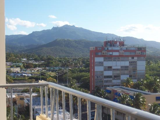 view of el yunque from our condo picture of luquillo. Black Bedroom Furniture Sets. Home Design Ideas