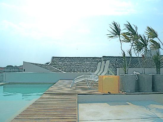 Hotel Casa Lola: Swimming pool on roof