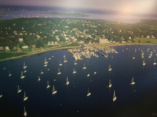 Wyndham Newport Overlook: A picture of a poster of Jamestown Island.
