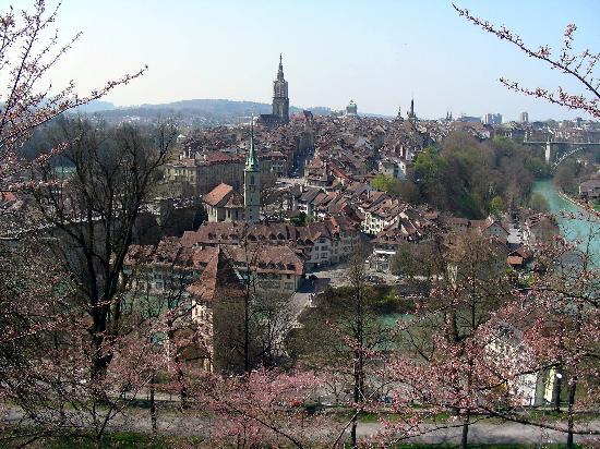Rosengarten: View over Bern from the restauran