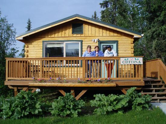 Currant Ridge: deck view of a cabin