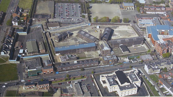 Crumlin Road Gaol: Aerial view of the Gaol