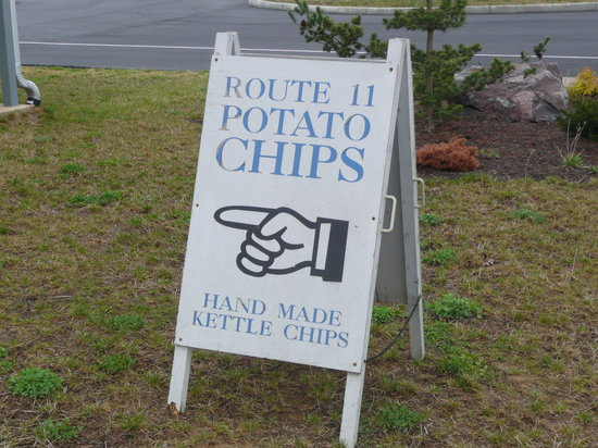 Mount Jackson, VA: Sign to Route 11 Potato Chip Factory