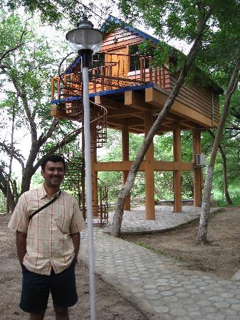 Bhavani Island Resort: A view of the tree top house