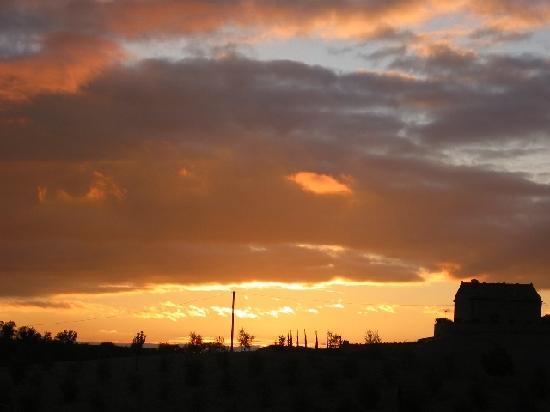 Adine in Chianti: Sunset from Simonetta's Terrace