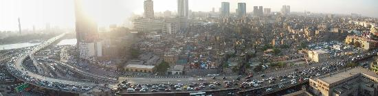 Isis Hotel: View from Hostel over Cairo
