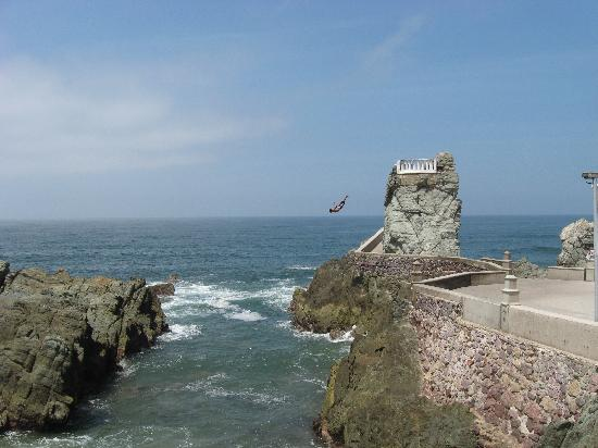cliff diver picture of sea garden mazatlan mazatlan