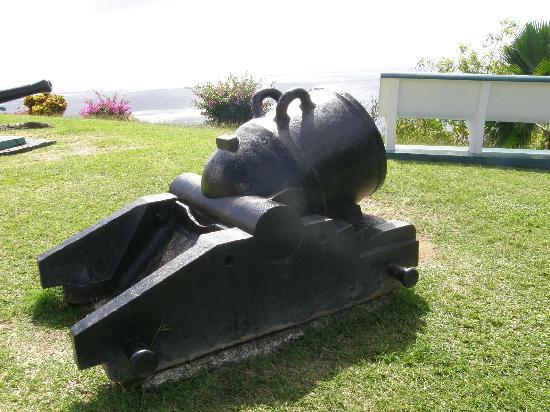 18th century mortar at Fort King George, Tobago