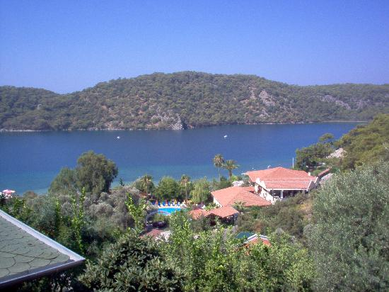 Hotel Meri: view over oludeniz lagoon and hotel heri