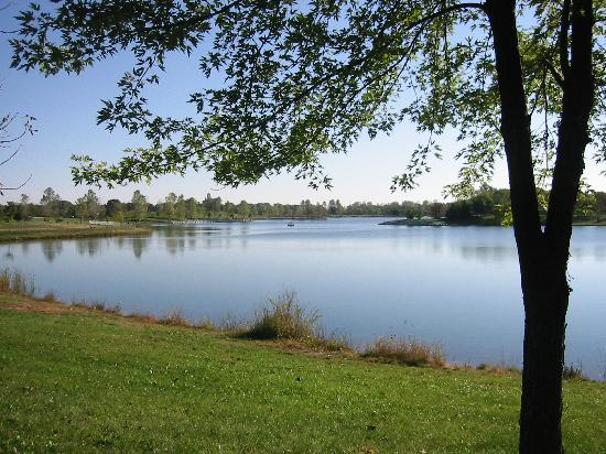Baumann Park & Lake: Baumann Park, Cherry Valley, Illinois