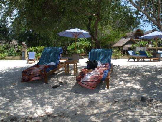 Nice place in the shade at Alam Gili