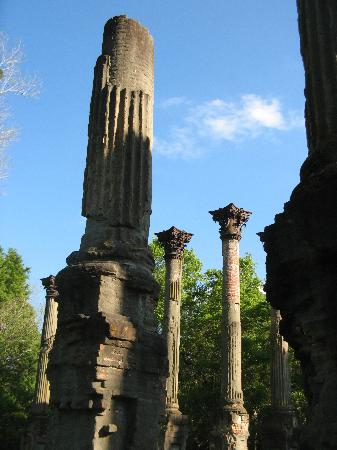 Port Gibson, Миссисипи: Windsor ruins in the late afternoon