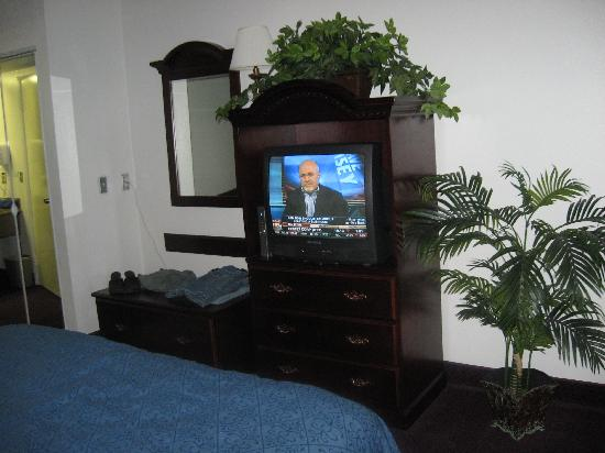 Quality Inn: entertainment center