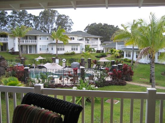 Plantation at Princeville: the view from the lanai, the hot tub and pool were SO relaxing!