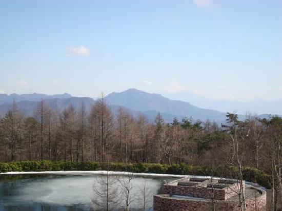 Kiyosato Kogen Hotel: 部屋からの風景。池と遠くに富士山が…