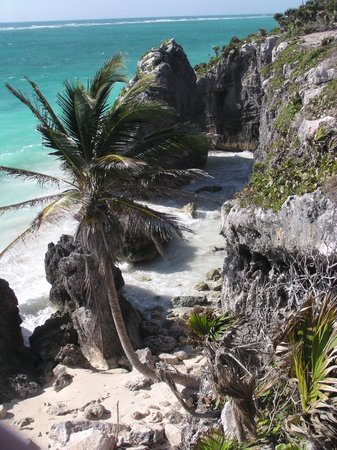 Riviera Maya, México: The cliffs at Tulum