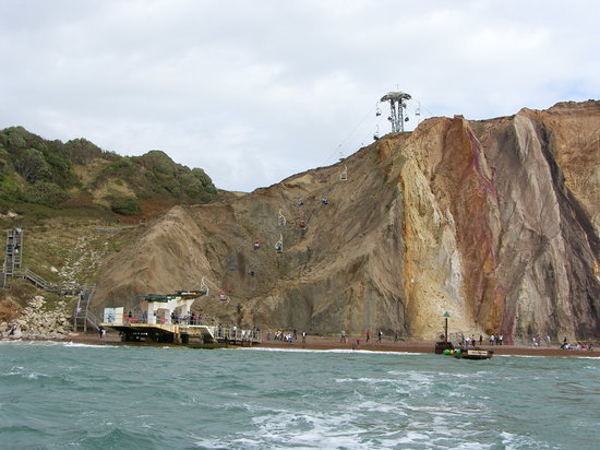 Pulau Wight, UK: rock face
