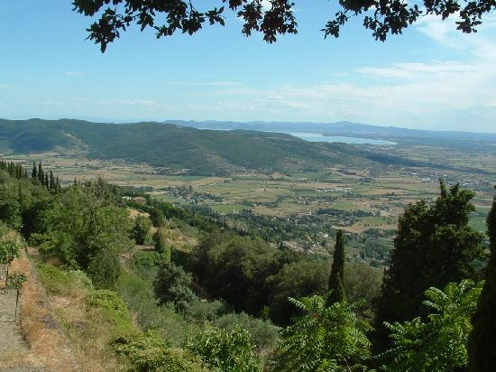 Villa Marsili: View over countryside from Santa Margherita