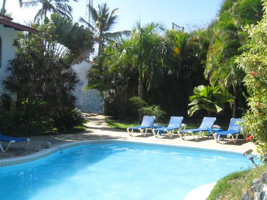 Casa Blanca Hotel & Surf Camp: er is bijna nooit iemand bij het zwembad....