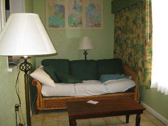 Chesapeake Beach Resort: little living room sleeper sofa