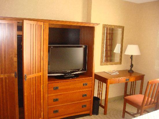 Embassy Suites by Hilton Denver - International Airport: bedroom entertainment center