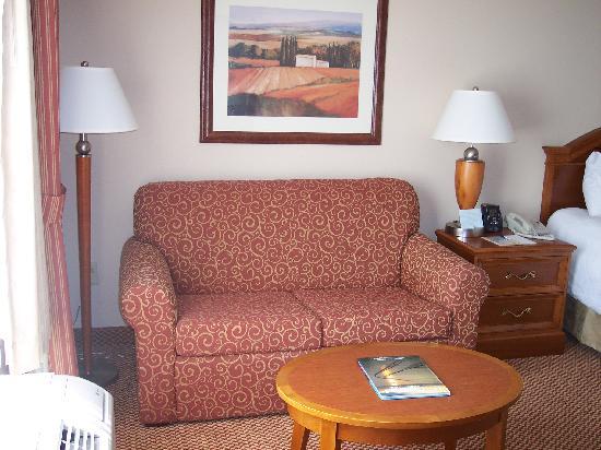 Hilton Garden Inn Newport News : Sitting area in room