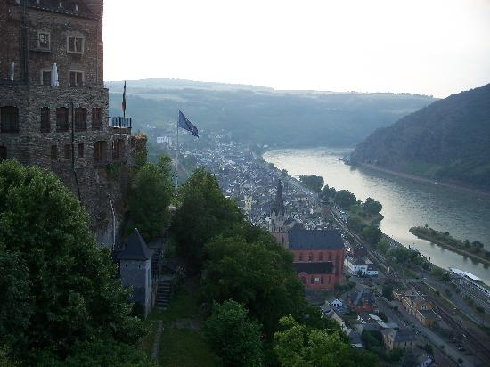Castle Hotel Auf Schoenburg View Of Oberwesel And The Rhine From