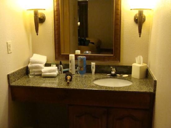 "Homewood Suites by Hilton Richmond-West End: Sink and my ""makeup counter"""