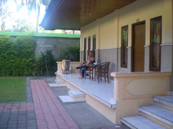 Suriwathi Beach Hotel: Our porch