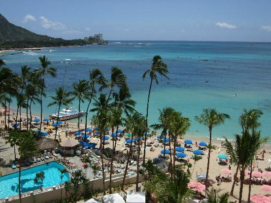 The Royal Hawaiian, a Luxury Collection Resort: View from our oceanfront room