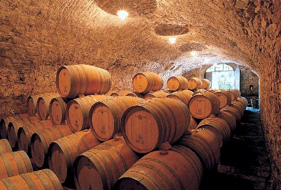 Radda in Chianti, Italien: Aging cellar